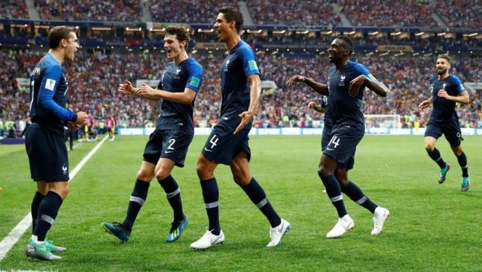 France defeats Croatia 4-2 in World CupFinal
